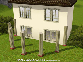 Sims 3 — MB-FakeArcades by matomibotaki — MB-FakeArcades, 7 half rounded columns to create fake-arcades, it is a new