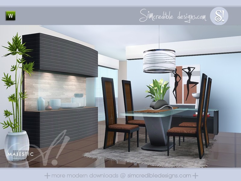Simcredible 39 s majestic for Sims 3 dining room ideas
