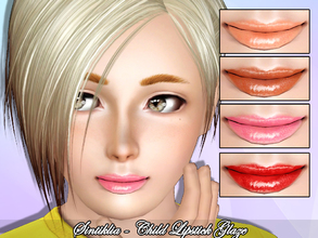 Sims 3 — Sintiklia - Child lipstick Glaze by SintikliaSims — For child female sims With thumbnail 4 channels for recolor