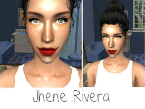 Sims 2 — Jhene Rivera by renegaderunway — Jhene is a Colombian born teacher, who just transferred to Sim High to teach