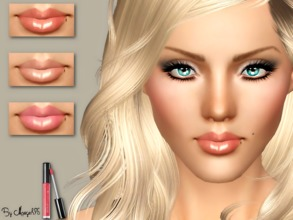Sims 3 — Kiss Me Softly by Margeh-75 — -a beautiful shine lustrous gloss for your sim ladies -gorgeous in all colours