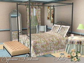 Sims 3 — Sylvania Bedroom by Lulu265 — A comfy and stylish bedroom , the canopy bed and florals are perfect for the