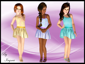 Sims 3 — Child dress v2 by ingmu2 — Gorgeous set of three dresses for your child to wear, from every day to a party, even