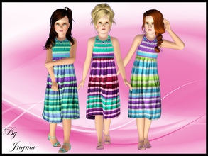 Sims 3 — Child Maxidress by ingmu2 — Gorgeous set of three dresses for your child to wear, from every day to a party,