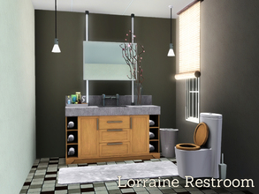 Sims 3 — Lorraine Restroom by Angela — Lorraine Restroom, a new part of your sims home to decorate in the Lorraine style,