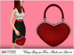 Sims 3 — curbs bag 05 by Colores_Urbanos — Handbag for our pin up girls. the mesh is completely done by my. in 4