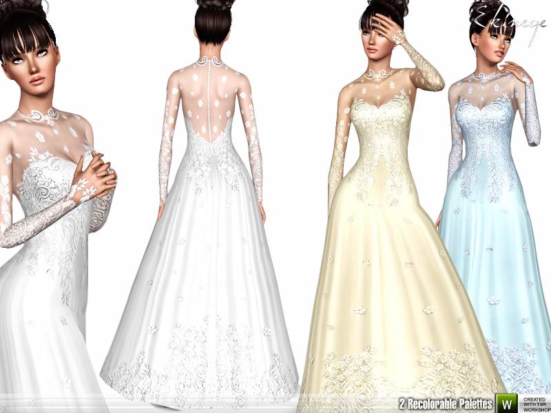 ekinege\'s Romantic Wedding Gown