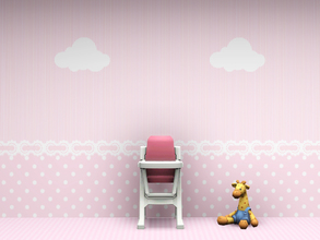 Sims 3 — Babys Nursery Wall 1 by Wimmie — 2 walls in one file with cloud motif. These walls are perfect for a nursery.