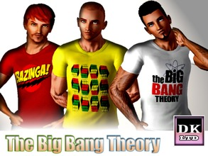 Sims 3 — The Big Bang Theory T Shirts For Guys by DK_LTD — Short-sleeved big bang theory T shirt for the guys. 1