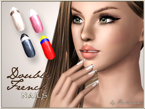 Sims 3 —  Double French Nails by Pralinesims — New beautiful, realistic nails. In CAS it looks a little dark, but ingame