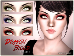 Sims 3 — Dragon Blood Eyeshadow by Pralinesims — New eyeshadow for your sims! Your sims will love their new look ;) -