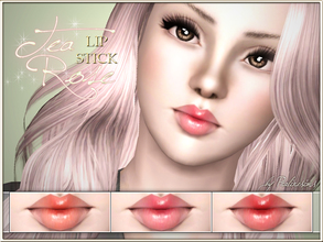Sims 3 — Tea Rose Lip Stick by Pralinesims — New realistic, semi-sheer lipbalm for your sims! Your sims will love their