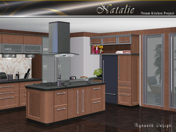 Nynaevedesign 39 s natalie kitchen for Sims 2 kitchen ideas