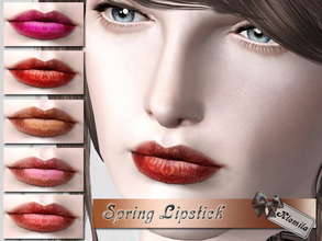 Sims 3 — Spring Lipstick by Klemila2 — - With launcher and CAS Thumbnail - Three recolorable channels - For teen - elder