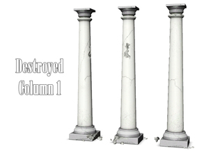 Sims 3 — Destroyed Column 1 by Kiolometro — Destroyed columns for your old house. One-floor-column placed as normal