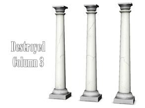 Sims 3 — Destroyed Column 3 by Kiolometro — Destroyed columns for your old house. One-floor-column placed as normal