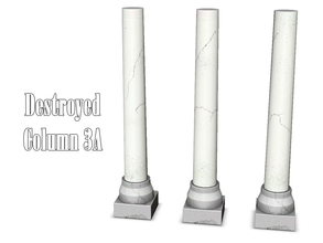 Sims 3 — Destroyed Column 3A by Kiolometro — Destroyed columns for your old house. One-floor-column placed as normal