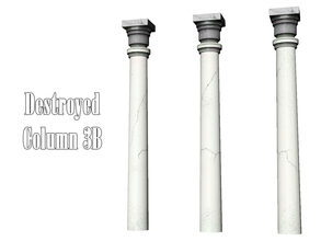 Sims 3 — Destroyed Column 3B by Kiolometro — Destroyed columns for your old house. One-floor-column placed as normal