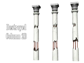 Sims 3 — Destroyed Column 2B by Kiolometro — Destroyed columns for your old house. One-floor-column placed as normal