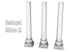 Sims 3 — Destroyed Column 1A by Kiolometro — Destroyed columns for your old house. One-floor-column placed as normal