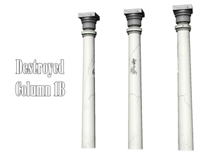 Sims 3 — Destroyed Column 1B by Kiolometro — Destroyed columns for your old house. One-floor-column placed as normal