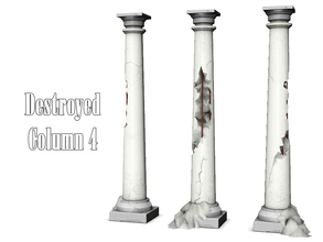 Sims 3 — Destroyed Column 4 by Kiolometro — Destroyed columns for your old house. One-floor-column placed as normal