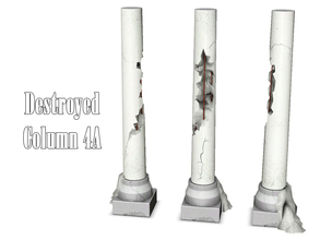 Sims 3 — Destroyed Column 4A by Kiolometro — Destroyed columns for your old house. One-floor-column placed as normal