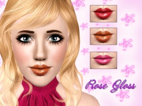 Sims 3 — Rose Gloss by Brittany06082 — A soft and shiny gloss for your female sims. Cas thumbnail Launcher thumbnail