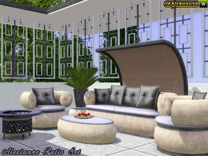 Sims 3 — Alexianne Patio Set by Canelline — Summer is approaching fast, it is time to think about enjoying the sun and