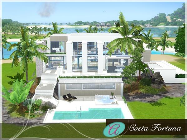 Modern Beach House Sims 3 Beach House Style
