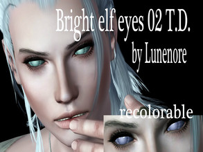 Sims 3 — Bright elf eyes02_T.D. by Sylvanes2 — Fantasy contacts for your sims, for male and female from toddler to elder.