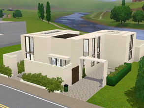 Sims 3 — Small Tropical Home by sambot2172 — A small modern two-bedroom home for your sims. Features 2 1/2 baths, and