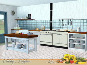 Sims 3 — Utility Kitchen by Lulu265 — The thing about the Utility Kitchen is that it's the absolute reverse of those