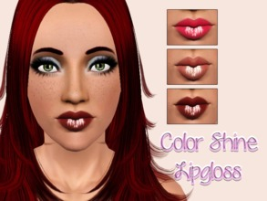 Sims 3 — Color Shine Lipgloss by Brittany06082 — A very glossy lipgloss for your sims Cas Thumbnail Launcher Thumbnail