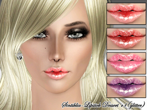 Sims 3 — Sintiklia - Lipstick Dessert v1 by SintikliaSims — Variant with glitter 3 recolorable zones For T/YA/A/E female
