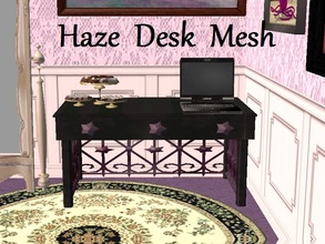 Sims 2 — Haze Desk Mesh by staceylynmay2 — This is the mesh and recolour. Black/grey desk with purple feet and handles.