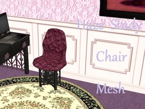 Sims 2 — Haze Study Chair Mesh by staceylynmay2 — This is the mesh. The cushion is purple bubbles and black/grey as the