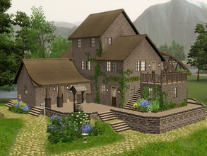Sims 3 — Rural Living by Demented_Designs — This family farm features a barn with room for 2 horses, a garden area, a