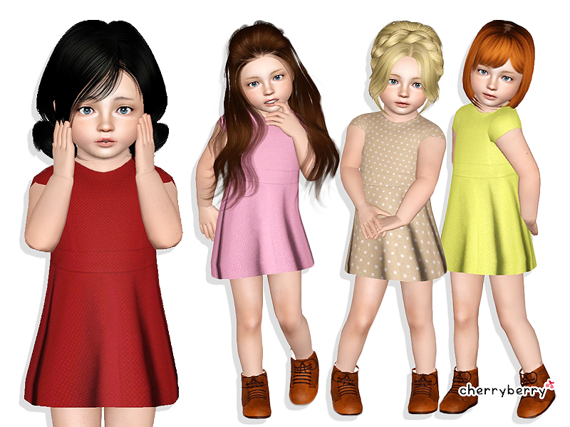 CherryBerrySims Vintage Toddler Dress