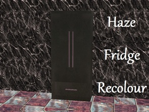 Sims 2 — Haze Fridge Recolour by staceylynmay2 — Fridge Recolour. Black fridge with a purple handle.
