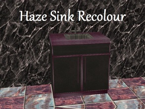 Sims 2 — Haze Sink Recolour by staceylynmay2 — Sink recolour. Purple haze and black.