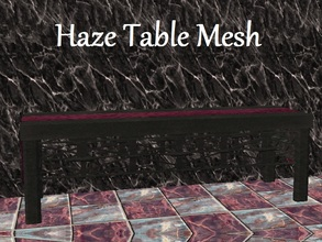 Sims 2 — Haze Dining Table Mesh by staceylynmay2 — This is the mesh. all recolours are welcome. Its just a plain black 3