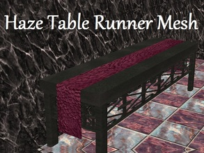 Sims 2 — Haze Table Runner Mesh by staceylynmay2 — This is the mesh. Purple bubble like texture.