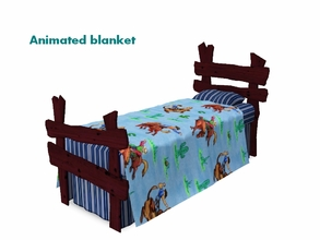 Sims 3 — Winchester Bed by Flovv — A comfortable, cowboy themed bed.