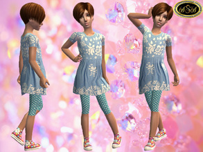Sims 2 — ASA_Dress_96_CF by Gribko_Sveta — Blue suit for girls TS2