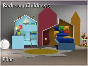 Sims 3 — Bedroom Children's by Pilar — Funny and colorful furniture for kids