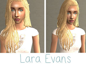 Sims 2 — Lara Evans by renegaderunway — Lara is a biracial artist from Manchester, hoping to make it big as a country