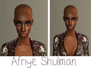 Sims 2 — Afriye Shulman by renegaderunway — Although Afriye was born in France and is fluent in its language, she