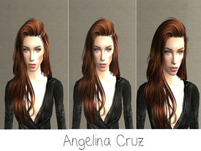 Sims 2 — Angelina Cruz by renegaderunway — This Bolivian Angelina Jolie look-alike has made a career out of being an