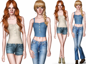 Sims 3 — Fashion Set 9 (Country Theme) by zodapop — Chic and stylish set designed just for your country girls. It